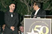 Ringo Starr and Antonio Villaraigosa — Stock Photo