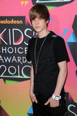 Justin Bieber at the Nickelodeon's 23rd Annual Kids' Choice Awards, UCLA's Pauley Pavilion, Westwood, CA 03-27-10 — Stock Photo