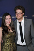 Lauren Miller and Seth Rogen — Stock Photo