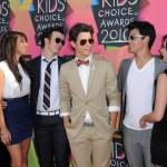 Kevin Jonas, Danielle Deleasa, Demi Lovato, Joe Jonas and Nick Jonasat the Nickelodeon — Stock Photo #15027155