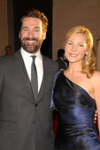 Jon Hamm and Jennifer Westfeldt at the 16th Annual Screen Actor Guild Awards Arrivals, Shrine Auditorium, Los Angeles, CA. 01-23-10 — Stock Photo