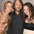 Saoirse Ronan and Peter Jackson and his daughter — Stock Photo