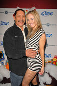 Danny Trejo and Paula LaBaredas — Stock Photo