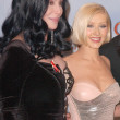 Постер, плакат: Cher and Christina Aguilera at the 67th Annual Golden Globe Awards Press Room Beverly Hilton Hotel Beverly Hills CA 01 17 10
