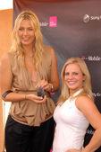 Maria Sharapova and the look-a-like winner — Stock Photo