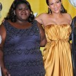 Royalty-Free Stock Photo: Gabourey Sidibe and Paula Pattonat the 41st NAACP Image Awards - Press Room, Shrine Auditorium, Los Angeles, CA. 02-26-2010