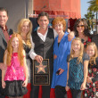 John Stamos and family — Stock Photo