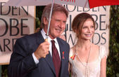 Harrison Ford and Calista Flockhart — Stock Photo