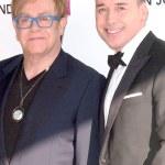Sir Elton John and David Furnish — Stock Photo