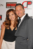 "Jessica Alba and Mark Liddell at the debut of Mark Liddell's ""Exposed: 10 Tears In Hollywood,"" Lloyd Wright's Sowden House, Los Angeles, CA. 11-09-09 — Stock Photo"