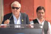Garry Marshall and John Stamos at the induction ceremony of John Stamos into the Hollywood Walk of Fame, Hollywood Blvd., Hollywood, CA. 11-16-09 — Stock Photo