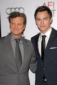 Colin Firth and Nicholas Hoult — Stock Photo