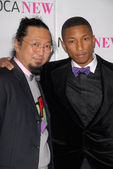 Takashi Murakami and Pharrell Williams — Stock Photo