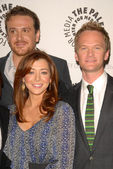 Jason Segel, Alyson Hannigan and Neil Patrick Harris — Stock Photo