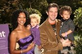 Garcelle Beauvais-Nilon, husband Mike Nilon and sons Jax and Jaid at the March of Dimes Celebration of Babies, Four Seasons Hotel, Los Angeles, CA. 11-07-09 — Stock Photo