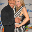 Danny Trejo and Paula LaBaredas  at Bridgetta Tomarchio B-Day Bash and Babes in Toyland Toy Drive, Lucky Strike, Hollywood, CA. 12-04-09 — Zdjęcie stockowe