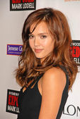 "Jessica Alba at the debut of Mark Liddell's ""Exposed: 10 Years In Hollywood,"" Lloyd Wright's Sowden House, Los Angeles, CA. 11-09-09 — Stock Photo"