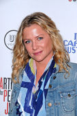 """Jessica Capshaw at the Artists for Peace and Justice """"Artists for Haiti"""" benefit, Track 16 Gallery, Santa Monica, CA. 01-28-10 — Stock Photo"""