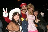 Halloween Revelers — Stock Photo
