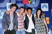 Robert Pattinson and Cam Gigandet with Taylor Lautner and Kristen Stewart — 图库照片