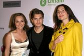 Giada De Laurentiis with Emile Hirsch and Minnie Driver — Stock Photo