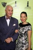 Manolo Blahnik and Lucy Liu — Stock Photo