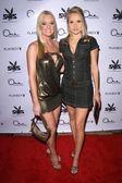 Katie lohmann und alana curry auf der party für 55th annual playboy playmate. ein sonnenuntergang, west hollywood. 12.12.08 — Stockfoto