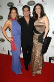 Kerri Kasem with Grant Cordone and Elena Lyons at the 5th Annual Runway For Life Gala Benefitting St. Jude Childrens Hostpital. Beverly Hilton Hotel, Beverly Hills, CA. 10-11-08 — Stock Photo