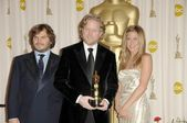 Jack Black with Andrew Stanton and Jennifer Aniston — Stock Photo