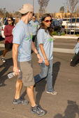 Colin Egglesfield and Jessica Lucas — Stock Photo