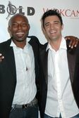 Jimmy Jean Louis and Gilles Marini — Stock Photo