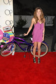 Kayla ewell presso il campus aperto nuove op campagna party di lancio, mels diner, west hollywood, ca 07/07/2009 — Foto Stock