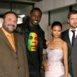 Joel Silver and Idris Elba with Thandie Newton and Gerard Butler — Stock Photo