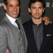 Stock Photo: Adrian Pasdar and Milo Ventimiglia at Heroes Countdown to the Premiere Party. Edison Lounge Downtown, Los Angeles, CA. 09-07-08