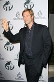 Aaron Eckhart at a party to introduce the Trump Tower Dubai. The Tar Estate, Bel Air, CA. 08-23-08 — Stock Photo