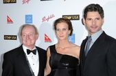 Rod Laver with Rachel Griffiths and Eric Bana — Stock Photo