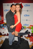 Danny Trejo and Alicia Arden at Bridgetta Tomarchio B-Day Bash and Babes in Toyland Toy Drive, Lucky Strike, Hollywood, CA. 12-04-09 — Stock Photo