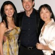 Kelly Hu with Russell Wong and Anna Chi at the Los Angeles Asian Pacific Film Festival Screening of Dim Sum Funeral. DGA, Beverly Hills, CA. 05-02-09 - Stok fotoğraf