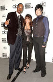 Snoop Dogg with Paula Abdul and Adam Lambert — Stock Photo