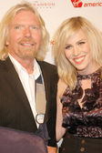 Richard Branson and Natasha Bedingfield — Stock Photo