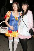 Halloween Party-goers — Stock Photo