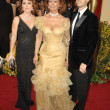 Sasha Alexander with Sophia Loren and Edoardo Ponti — Stock Photo