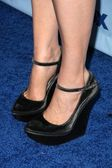 Emily Deschanel's shoes at the Fox Eco Casino Party. London West Rooftop, Hollywood, CA. 09-08-08 — Stock Photo