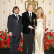 Постер, плакат: Jack Black with Andrew Stanton and Jennifer Aniston