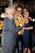Ric Flair and Tiffany with Mickey Rourke — Stock Photo