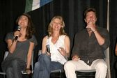 Grace Park with Kate Vernon and Michael Trucco — Stock Photo