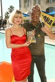 Rena Riffel and The Toxic Avenger — Stock Photo