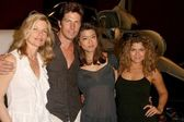 Kate Vernon and Michael Trucco with Grace Park and Luciana Carro at Battlestar Galactica Auction Preview Day and Actor Panel. Pasadena Convention Center, Pasadena, CA. 05-07-09 — Stock Photo