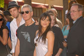 Joel David Moore, Stephen Lang and Michelle Rodriguez — Stock Photo