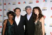 Alfre Woodard and Christian Slater with Mike OMalley and Saffron Burrows at the premiere party for My Own Worst Enemy. Craft, Los Angeles, CA. 10-04-08 — Stock Photo